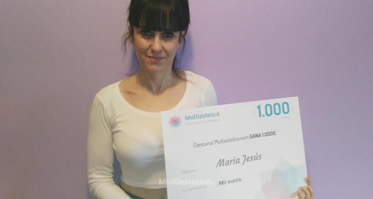 Ganadora del sorteo del mes de febrero: María Jesús