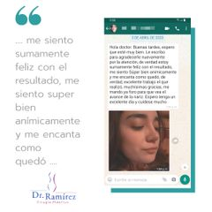 Recomendacion de rinoplastia - Dr. Edgar Ramírez López