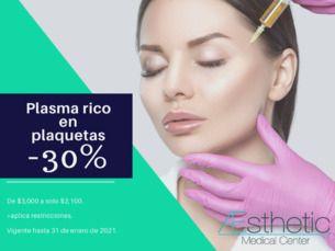 Plasma Rico en Plaquetas con 30% de Descuento (De $3000 a Sólo $2,100)