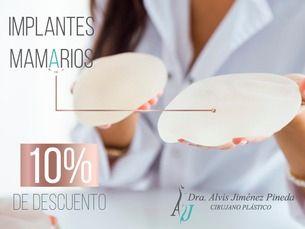 Implantes mamarios 10% de descuento
