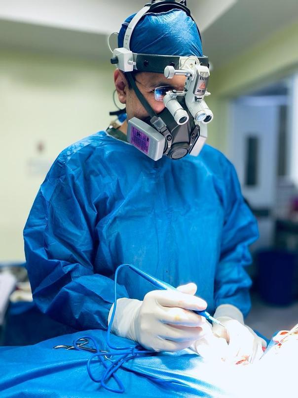 Cirujano y paciente